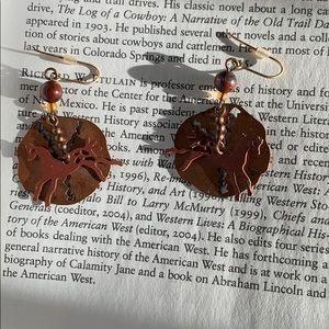Native American Horse Earrings